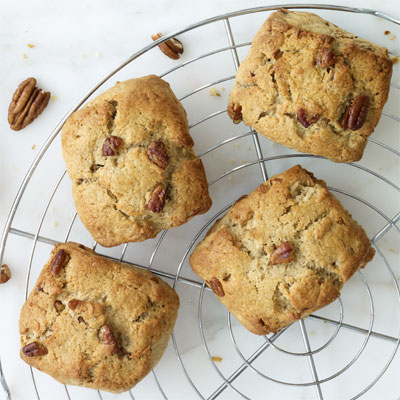 ... scone, they taste downright decadent.Recipe: Maple-Pecan Scones
