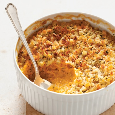 Sage adds a savory note to sweet-potato casserole. Best of all: It can be made two days before the meal.Recipe: Sweet Potato and Sage-Butter Casserole
