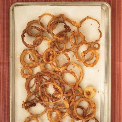 ... 350 degrees F before adding more rings.Recipe: Buttermilk Onion Rings