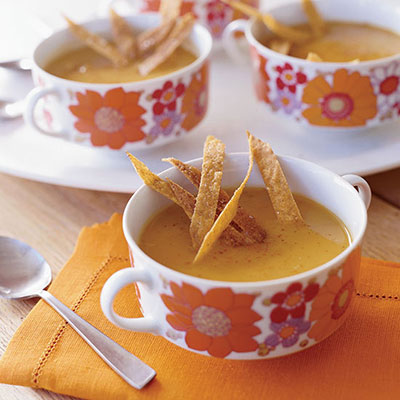Sweet Potato Chipotle And Apple Soup