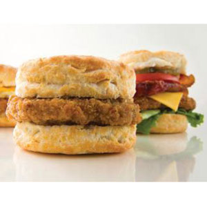 Born of a business expansion, Biscuitville emerged when Pizzaville produced biscuits to pull in morning customers. The biscuits were met with more popularity than the pizza, so the focus became biscuits — flaky and Southern style. Virginia and North Carolina have never been the same.
