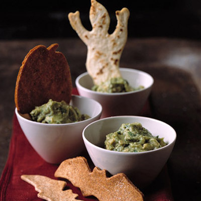 The chips can be made up to one day ahead. Store them in an airtight container at room temperature. Recipe: Guacamoldy with Creature Chips