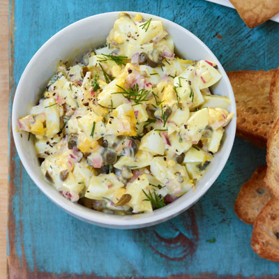 Egg Salad With Capers Red Onion Lemon And Dill
