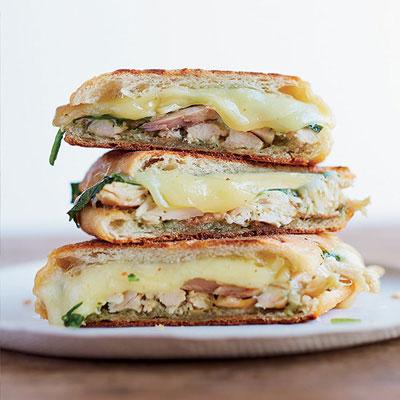 ... crunchy pressed panino. Recipe: Chicken Panini with Spinach and Pesto