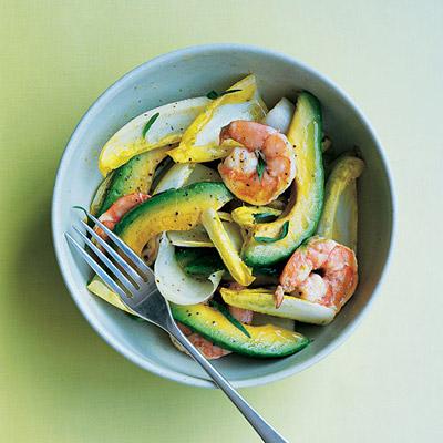 ... the crispy endive leaves.Recipe: Avocado, Shrimp, and Endive Salad