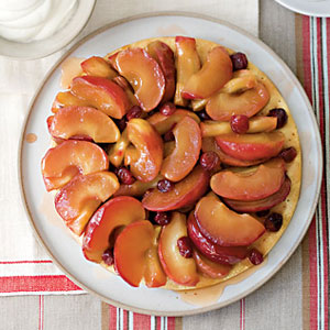 Apples pair beautifully with other fruit: In this case, a handful of fresh cranberries adds a delicate tartness that's nicely balanced by the side of rich, slightly tangy Greek yogurt cream. Recipe: Tarte Tatin
