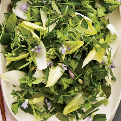 Herb salads can be intense, but crisp endive leaves keep this recipe ...