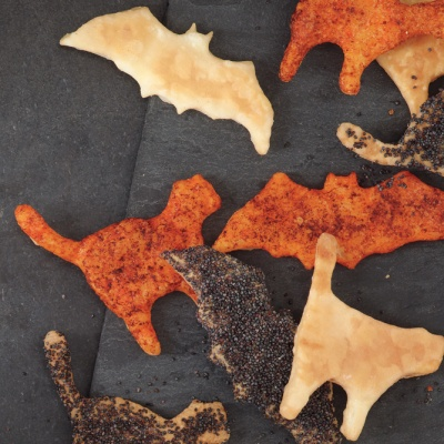 Get ready to feel a little thrill as you munch on these different flavored crackers ranging from a jolting paprika and Parmesan to nutty poppy seeds this Halloween! Recipe: Scaredy Crackers