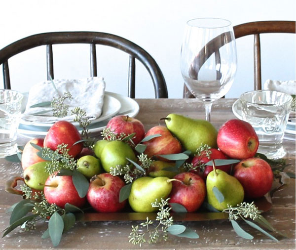 16 edible thanksgiving crafts table decorations for Apples decoration