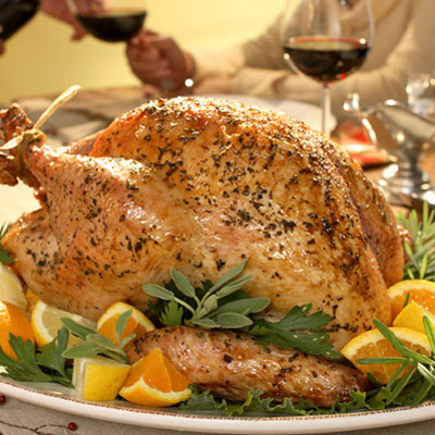 ... with fresh herb sprigs and citrus wedges.Recipe: Herb Roasted Turkey