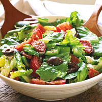 Greek Salad with Pepperoni
