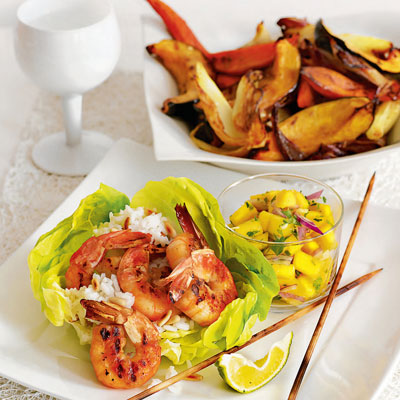 Grilled shrimp with mango salsa seafood dinner recipes grilled shrimp with mango salsa forumfinder Image collections