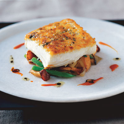Potato-Crusted Halibut Recipe - Michael Schlow's Halibut