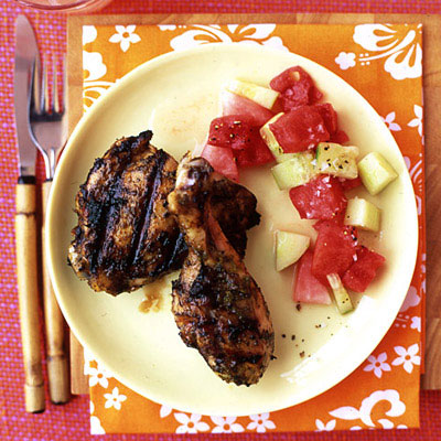 Jerk chicken recipe this grilled chicken is coated in a homemade jamaican marinade that includes chiles thyme forumfinder Gallery