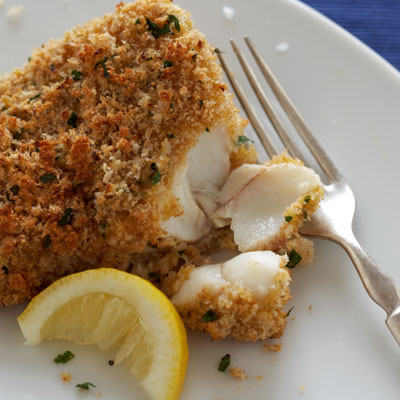 Crunchy cod recipe for Fried fish with bread crumbs
