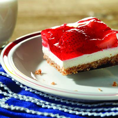 ... in this chilled dessert classic.Recipe: Strawberry Pretzel Squares