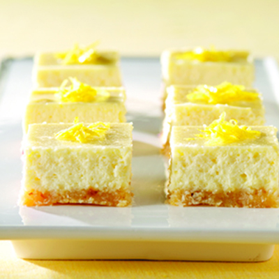 Philadelphia 3-Step Lemon Cheesecake Bars Recipe
