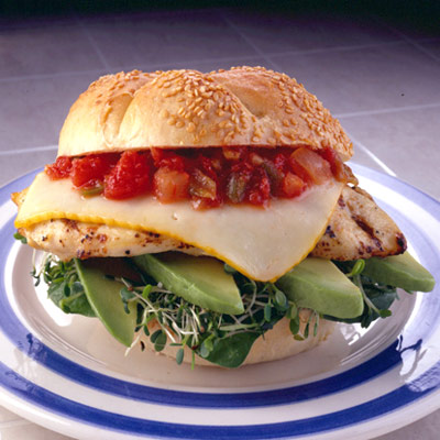 San Francisco Grilled Chicken Sandwiches Chicken Cheese And Fresh Tasty Veggies All Topped With Salsa What S