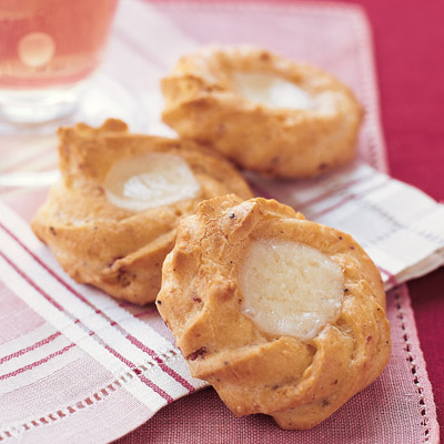 Finely shredded ham and cheese permeate these toothsome savory cookies, which have a bonus cube of cheese melted right on top.Recipe: Ham and Gruyere Thumbprints