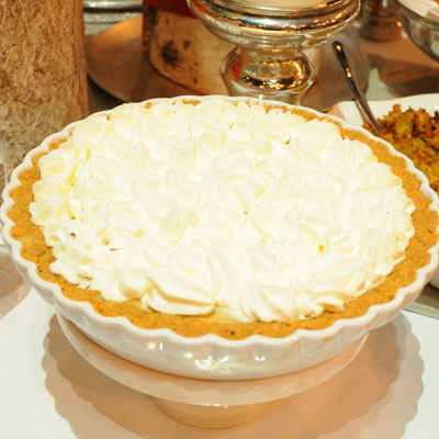 holiday meal, make pumpkin chiffon rather than regular pumpkin pie ...