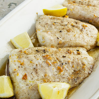 Broiled Flounder with Butter and Lemon Recipe - Taste of Place