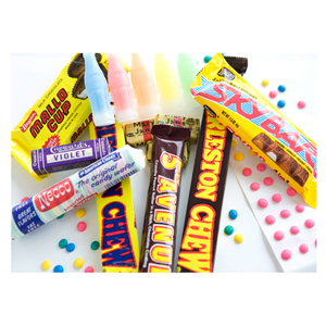 Craving some of these classic treats but can't find them locally? You're in luck — a few old-school candy stores still exist and many of them will ship directly to your doorstep. Economy Candy in New York City stocks a whole slew of goodies and ships nationwide. NostalgicCandy.com and Old-Time Candy can also satiate your sweet tooth. Craving candy from a particular decade? One of our favorite shops here in New York City, Dylan's Candy Bar, offers candy time capsules! The 1960's capsule includes Fruit Stripe gum, Charleston Chew, Mallow Cup and other goodies, but capsules are available starting from way back in the '20s.