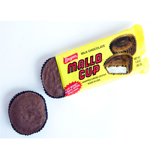 Bill and Bob Boyer started their candy career in the '30s selling homemade fudge door-to-door but it was their Mallo Cup that really jumpstarted their candy careers. Who can resist a pillowy marshmallow coated in coconut and chocolate? ($1.19, oldtimeycandy.com)