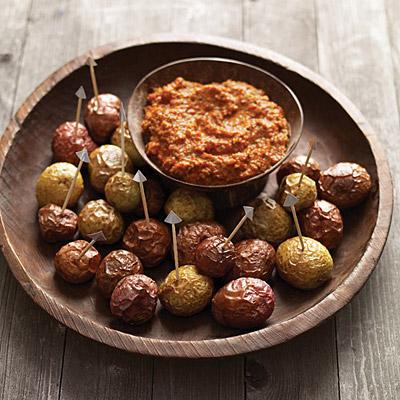 Shriveled Potatoes With Romesco Sauce Recipe