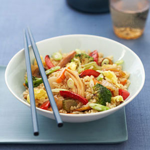 For a quick and easy dish, try this 15-minute recipe complete with broccoli, eggs and garlic, stir-fried in a soy and rice wine sauce.Recipe: Fried Brown Rice