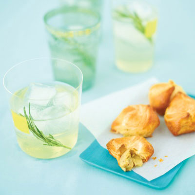 warm, cheesy artichoke filling is at the heart of these puff pastry ...