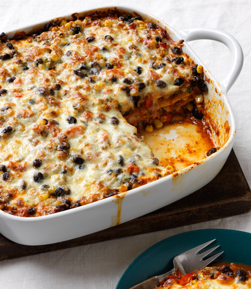 Mexican Black Bean Lasagna Recipe