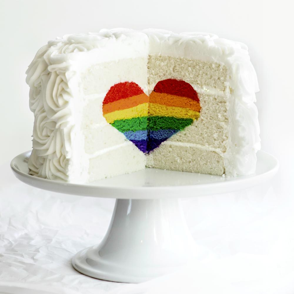 Rainbow Heart Cake Recipe