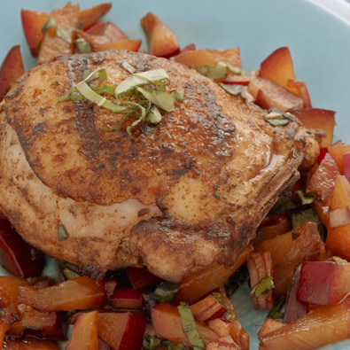 Spicy Chicken Thighs with Plum Chutney - Chicken Thighs ...