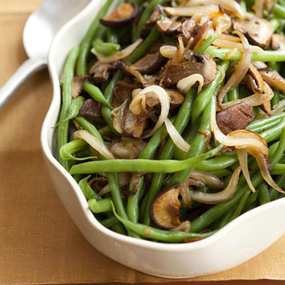 Green Bean And Shiitake Mushrooms Recipe — Dishmaps