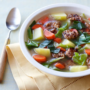 Hearty Italian Sausage And Vegetable Soup
