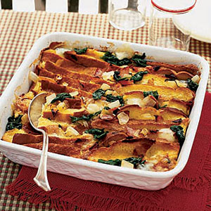 Stovetop Spinach and Swiss Cheese Strata