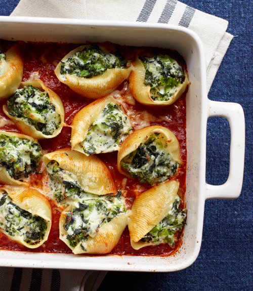 Vegetable And Three Cheese Stuffed Shells Pasta Recipes