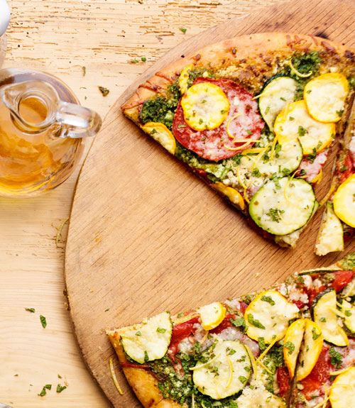 Zucchini Pesto Pizza Recipe