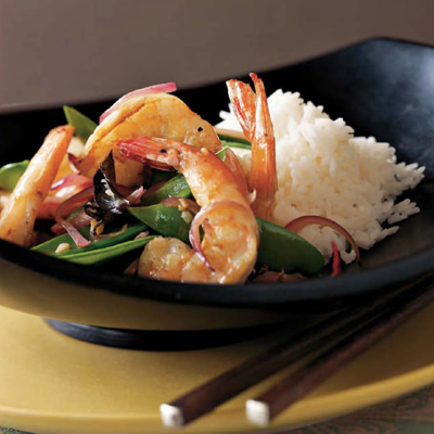 Easy spicy shrimp with basil recipe