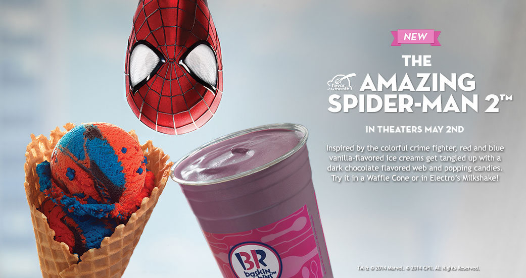 Spiderman Ice Cream Baskin Robbins
