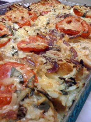 Savory tomato bread pudding recipes