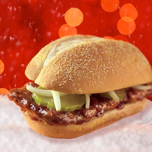 Kiri Tannenbaum: McDonald's McRib Returns December 17