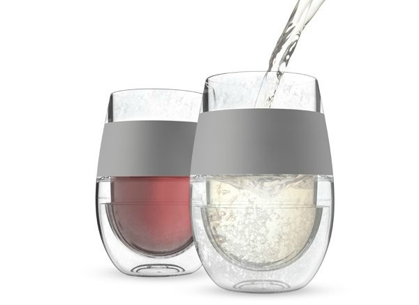 chilled wine glasses