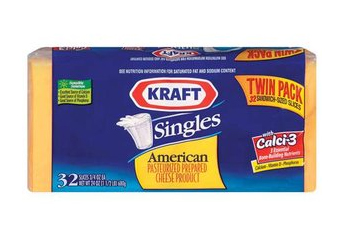 kraft american singles ingredients