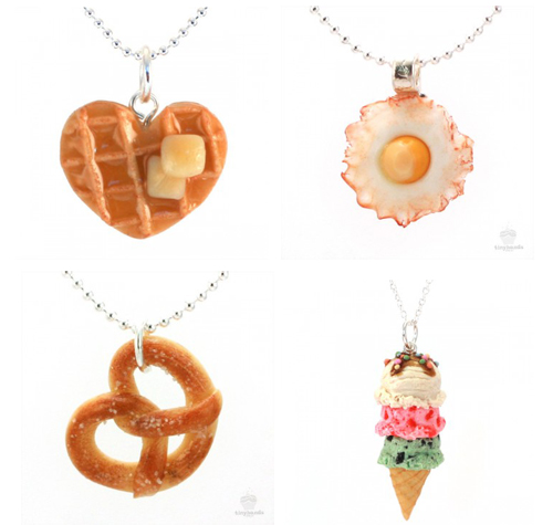 Scented food necklaces buttered waffle necklace for How to make scented jewelry