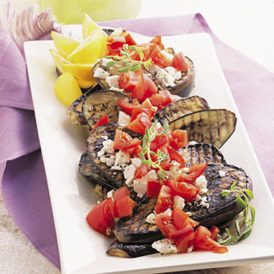 Grilled Eggplant and Green-Tomato Relish