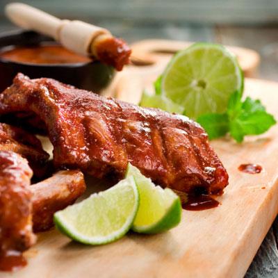 A heady blend of tequila, orange juice, lime juice, and jalapeño pepper gives these pork ribs their personality. For an even more intense flavor kick, marinate the ribs overnight. Recipe: Mexican-Style Spareribs