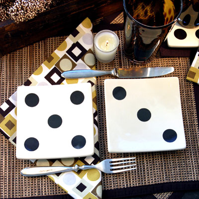 Score big at your next game night with these fun appetizer plates. Use two at & Table Settings - Table Settings Pictures