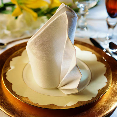 Be sure to use a crisp, starched napkin for best results.&lt;/p&gt;<br /> &lt;p&gt;
