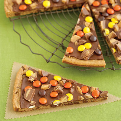 our Peanut Butter Cookie Pizza.The recipe calls for chocolate peanut ...